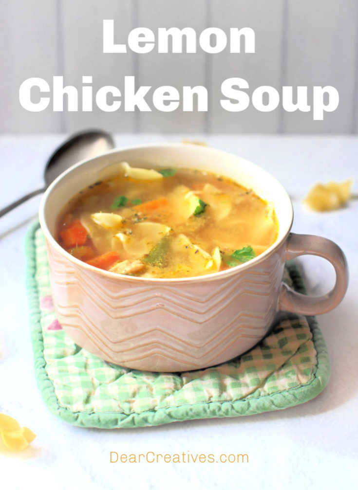 Lemon Chicken Soup – Easy, Lemony Chicken Soup!