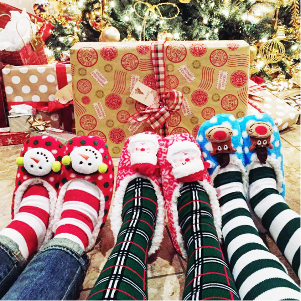xmas socks chrissys - If you are looking for a fun, colorful, gift or stocking stuffer, knee high socks are a popular fashion statement that coordinates with almost any outfit.