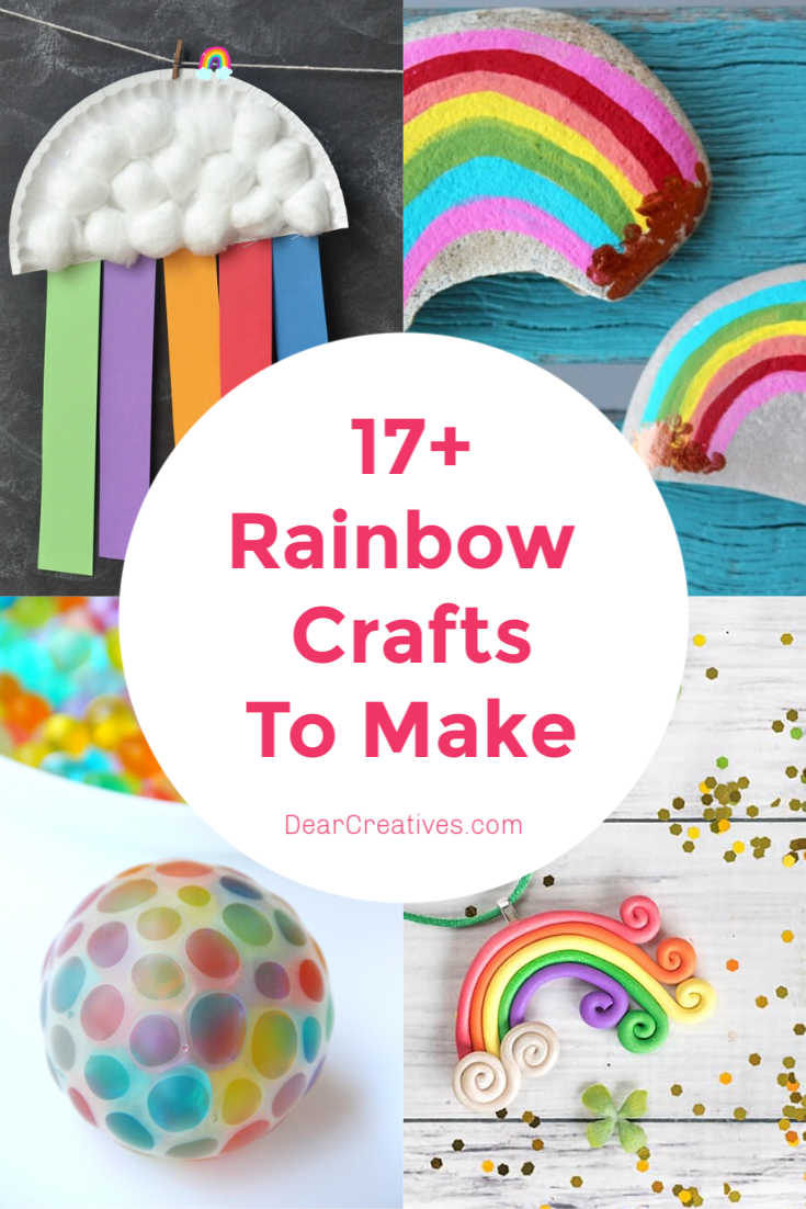 Rainbow Crafts - 17 + Craft Ideas for adults, teens and kids. DearCreatives.com