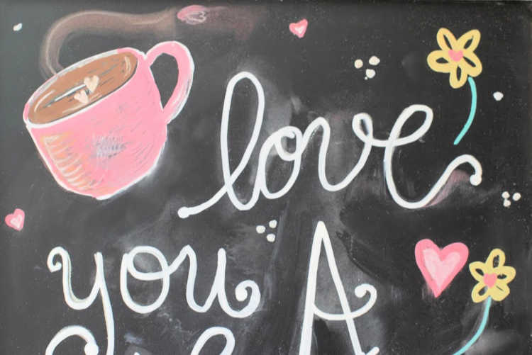 close up of chalkboard art idea - find more ideas and chalkboard art tips at © DearCreatives.com