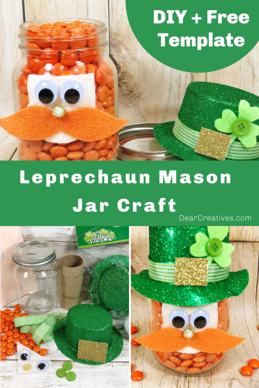 Leprechaun Mason Jar Craft – DIY St. Patrick's Decoration!