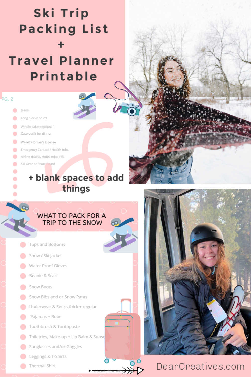 Ski Trip Packing List  + What To Wear To The Snow