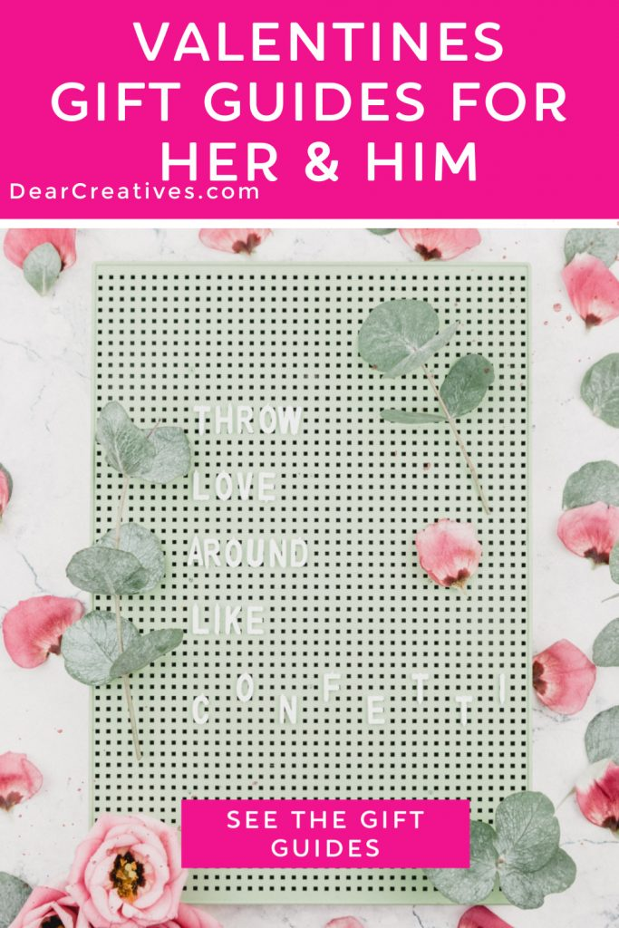 Valentine's Gift Guides for her and him. See Valentine's Day 2020 Circular plus all our gift guides for Valentine's Day to help you select the best gift. DearCreatives.com