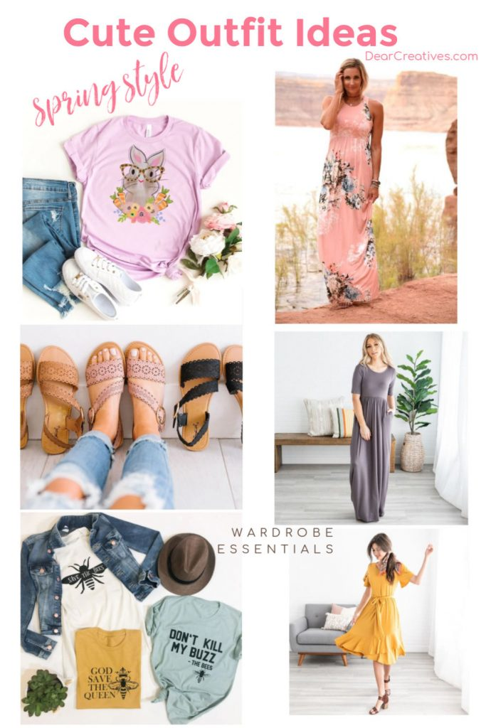 Cute outfit ideas for spring - Ideas for women and kids. Grab these ideas and see where to find all the deals for spring style and Easter style! DearCreatives.com
