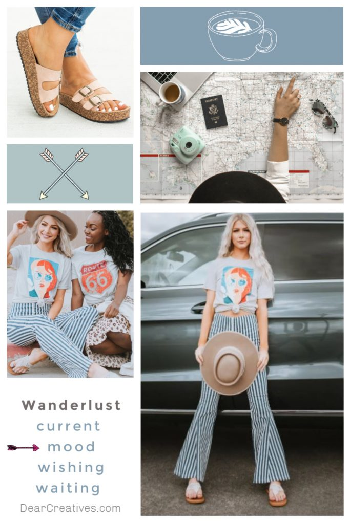 Fashion Mood Board - Wanderlust- Current Mood - DearCreatives.com