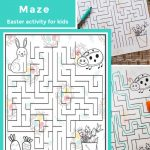 Free Printable Easter maze. Find this Easter activity for kids, plus more free printables and Easter ideas! DearCreatives.com