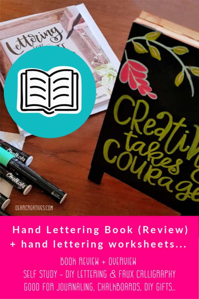 Hand Lettering Book Review - How to learn hand lettering and faux calligraphy as a hobby or skill. DearCreatives.com