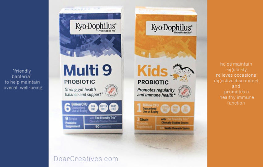 Healthy Living Tips- How probiotics can keep your digestion balanced. The benefits of using probiotics and probiotics for kids - © DearCreatives.com
