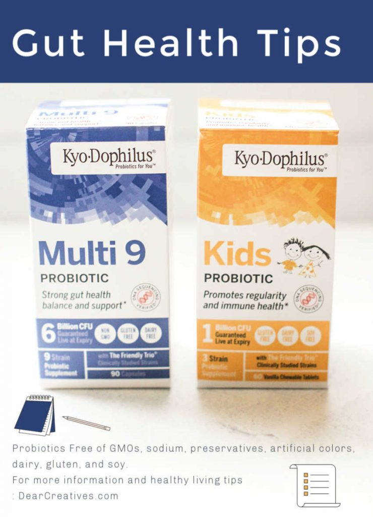 Healthy Living Tips -Gut health tips -Where to buy probiotic and probiotics for kids © DearCreatives.com
