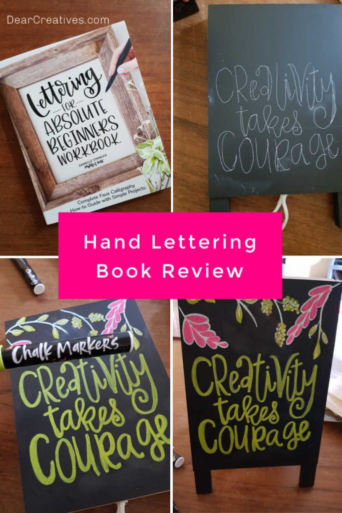Lettering For Absolute Beginners Workbook - Review and how you can use the book to learn hand lettering. DearCreatives.com