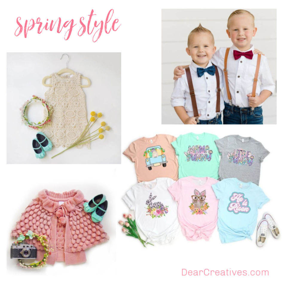 Outfit ideas for spring and Easter. See our favorites and get more style ideas at DearCreatives.com