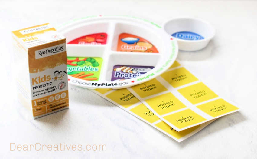 Probiotics for Kids - help your kids digestion stay on track and what to do if it isn't. © DearCreatives.com
