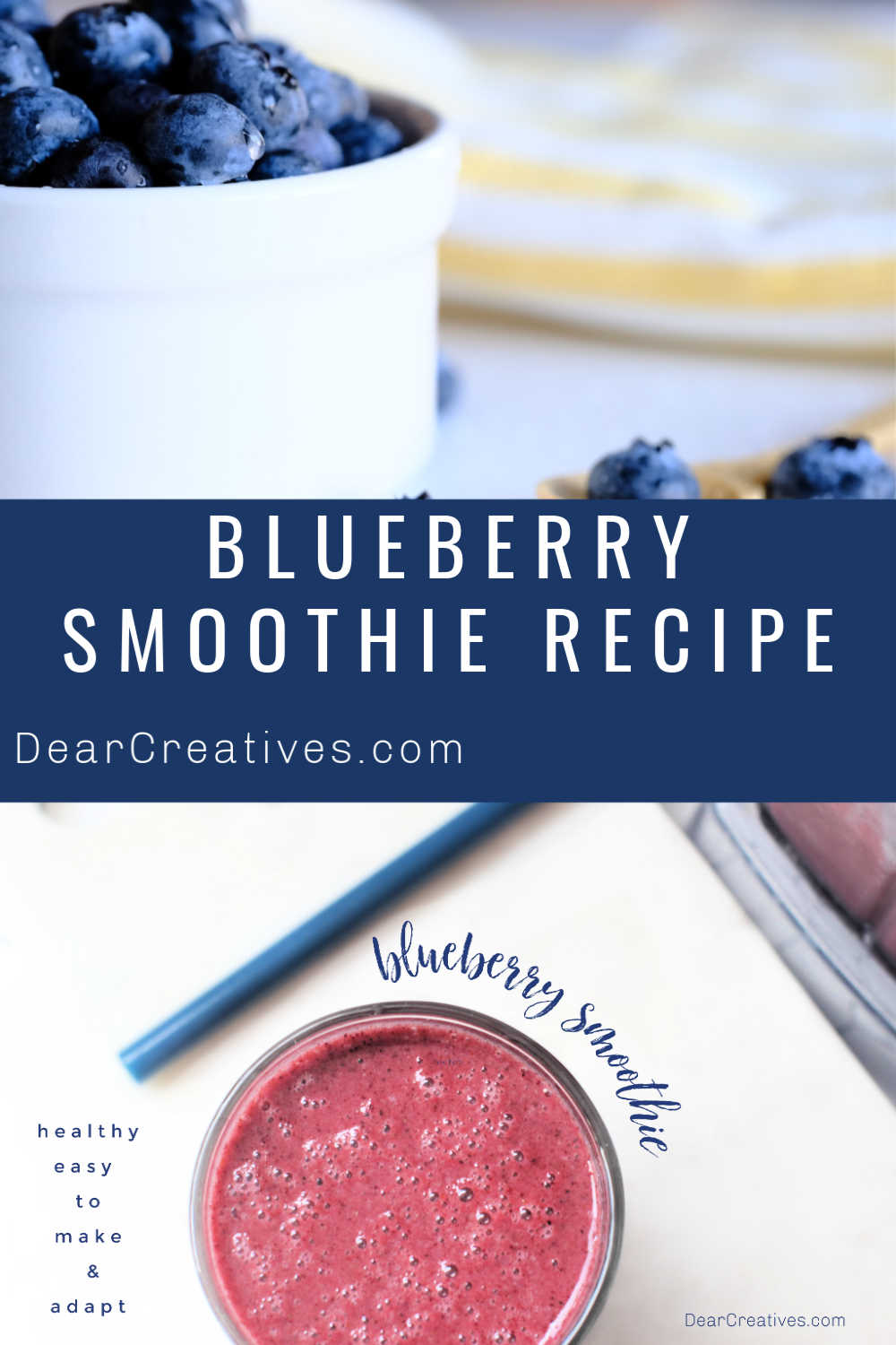 Blueberry Smoothie Recipe – Use Fresh Or Frozen Berries!