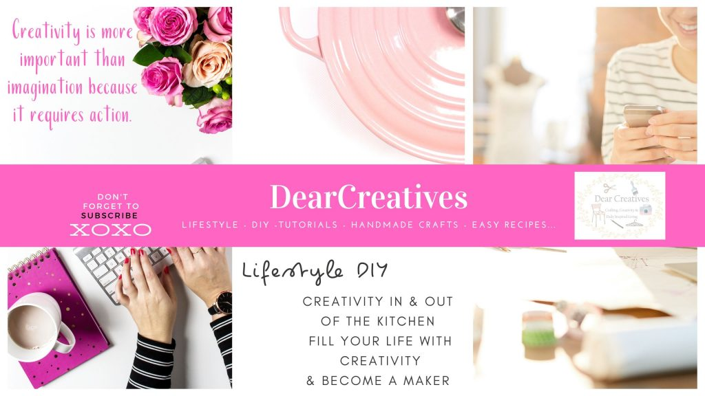 DearCreatives.com - YouTube Channel - Lifestyle, DIY, Crafts, Easy Recipes and unboxings and product reviews...