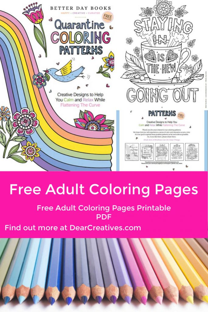 Free Adult Coloring Pages - Creative Designs - Dear Creatives