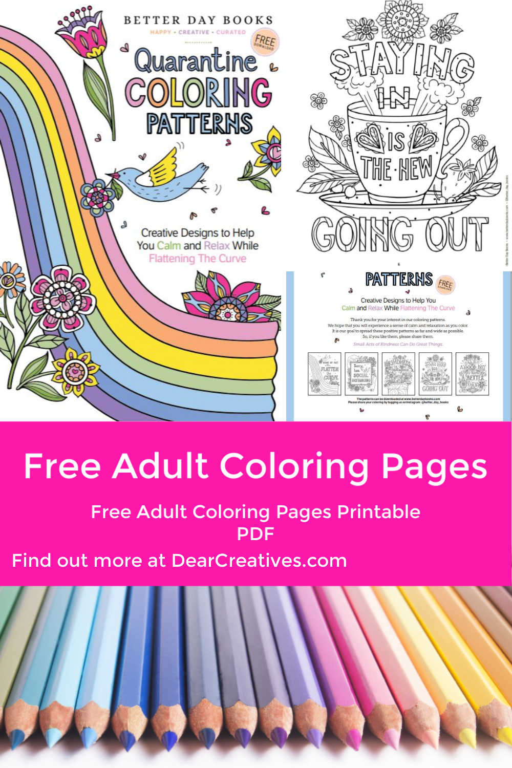 Free Adult Coloring Pages – Creative Designs