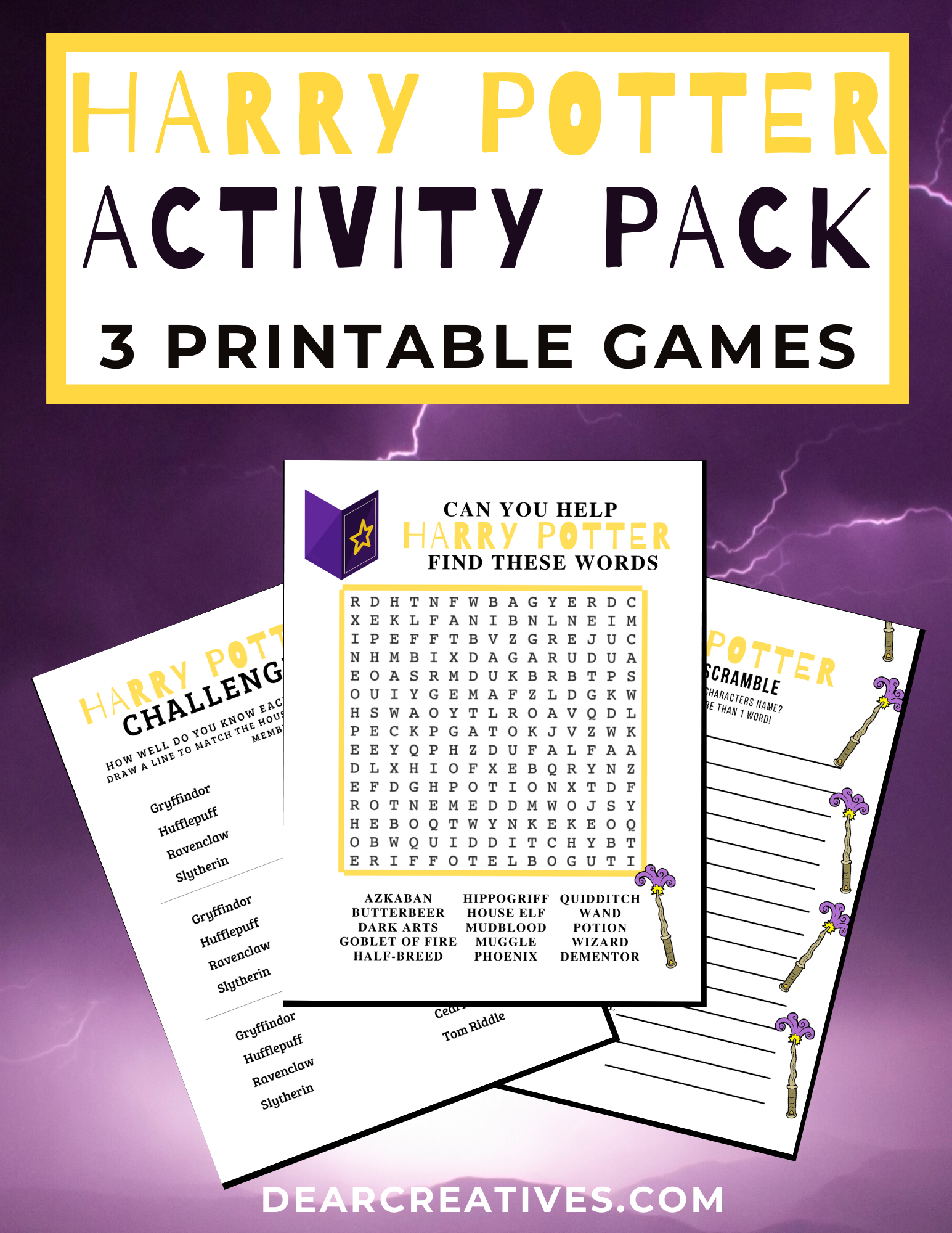Harry Potter Printables – Word Searches Activity Pack!