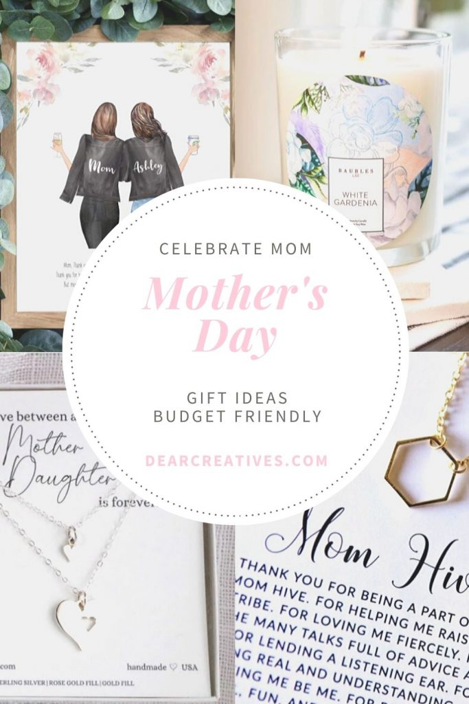 Mother's Day gift ideas that are budget friendly and super cute! Mom will love these! Plus a few for mom_daughter and grandma. DearCreatives.com