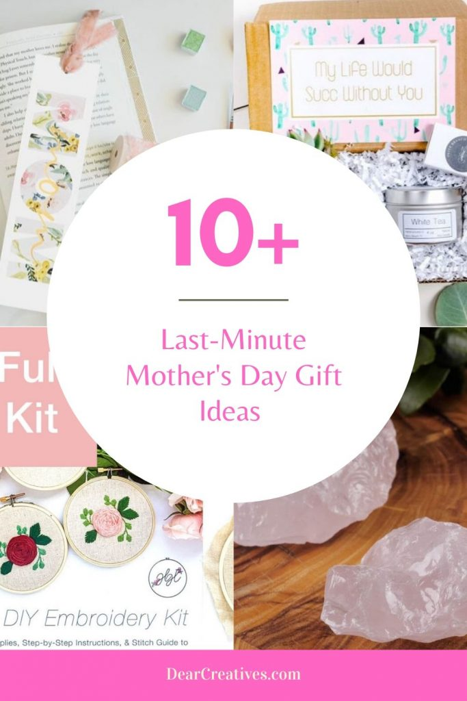 10+ Last-Minute Mother's Day Gift Ideas - ready to ship gifts for mom, grandma and her! Affordable Mother's Day gifts. DearCreatives.com #lastminute #mothersday #giftideas