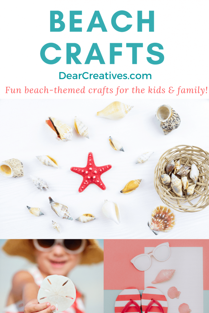 Beach Crafts - grab craft ideas that are beach-themed to make! Pick a project and have some fun crafting! Beach crafts for kids, teens and beach crafts for adults. Big list of ideas to pick from! DearCreatives.com