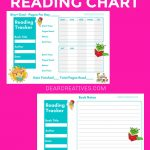 READING CHART - READING TRACKER WITH PAGE FOR NOTES ABOUT BOOKS.FREE PRINTABLES - DEARCREATIVES.COM