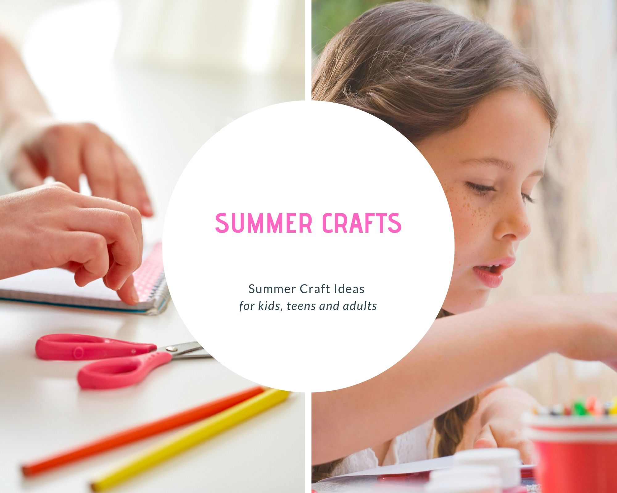 Summer Crafts - Summer Craft Ideas - Crafts for Kids, Teens and Adults - DearCreatives.com