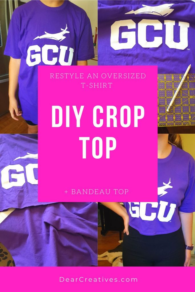 DIY Crop Top - Restyle Fashion - Restyle an over-sized t-shirt into a crop top... DearCreatives.com