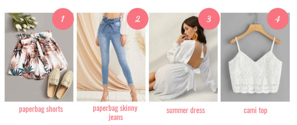 summer shorts, pants, dress and cami top - Summer outfit ideas - DearCreatives.cm
