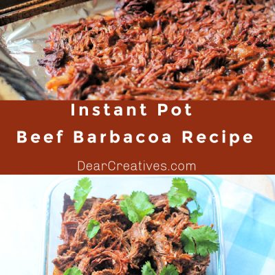 Beef Barbacoa - Beef Barbacoa Recipe - This shredded beef is so tender and flavorful, easy to make in the Instant Pot and finished by crisping up the edges in the oven. Perfect for salads, tacos, burritos, nachos... DearCreatives.com