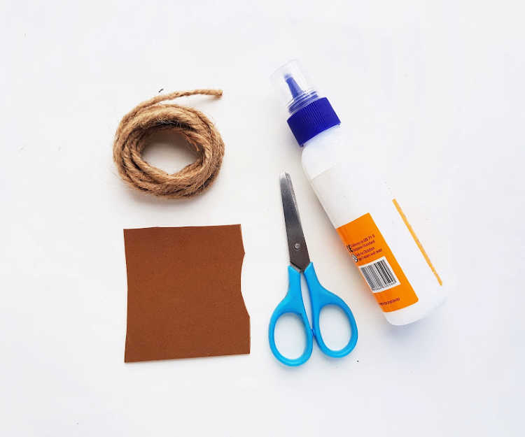 Craft Glue, Scissors, Twine, Felt - Supplies for making DIY Coasters - DearCreatives.com