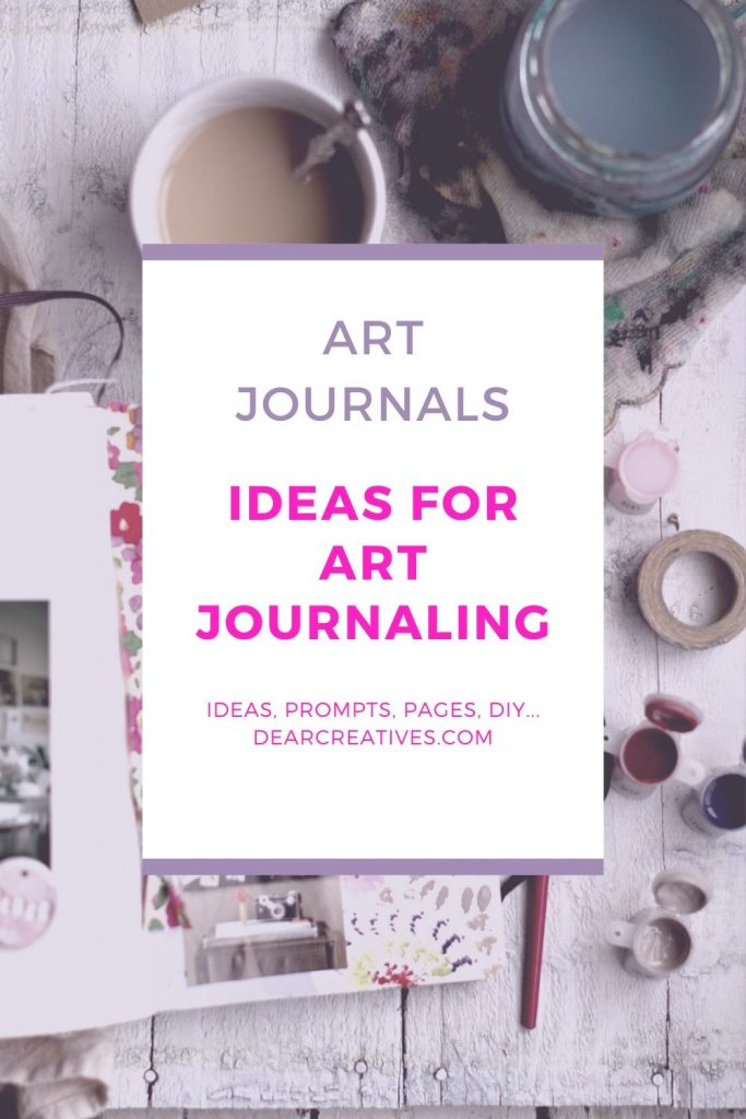 Ideas For Art Journaling - Ideas, prompts, journal pages, journal speads, our favorite art journaling magazine... #ideasforartjournaling #Art Journal #artjournals #journaling #art #creativity #dearcreatives