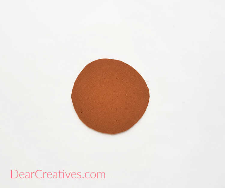 step (1) Cut a circle to make the base of your table coaster. - DIY coasters with instructions at DearCreatives.com