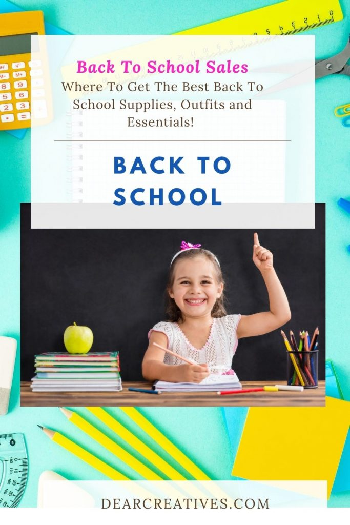 Back To School - back to school sales, supplies, outfits and essentials. Plus, other free stuff and cash back you can grab for back to school! DearCreatives.com