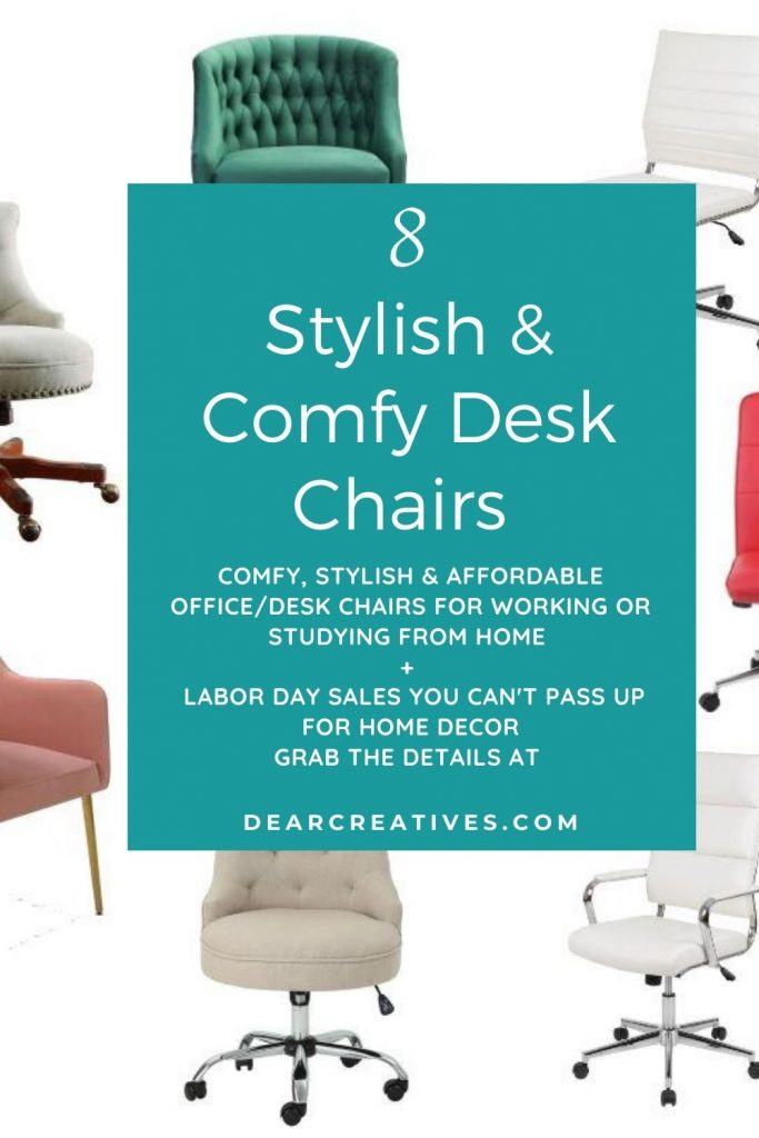 Comfy Desk Chairs - Stylish and affordable office chairs for the home. Plus, the best Labor Day sales for Home Decor - DearCreatives.com