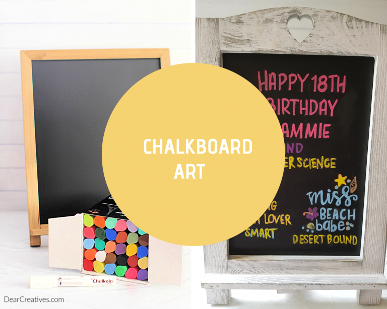 Chalkboard art and chalkboard sign ideas. DearCreatives.com