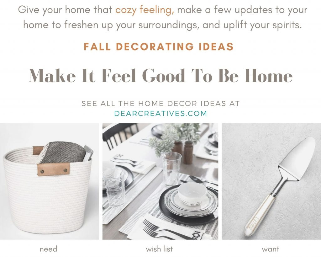 Fall Decorating Ideas - Little Things Make It Feel Good To Be Home - DearCreatives.com