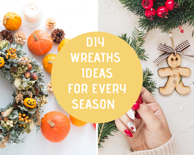Grapevine Wreath Ideas - DIY Wreath Ideas - Door Wreaths and Wreaths for hanging indoors. Wreaths for every season! DearCreatives.com