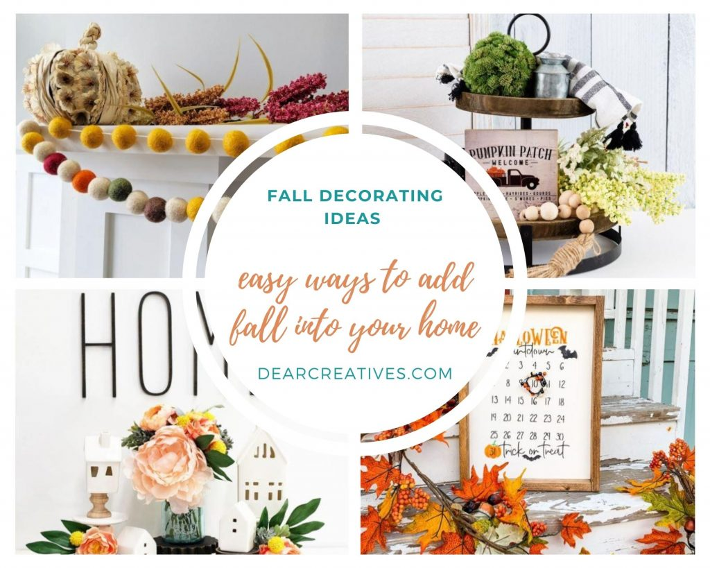 See all 10+ quick and easy ideas for decorating for fall...DearCreatives.com