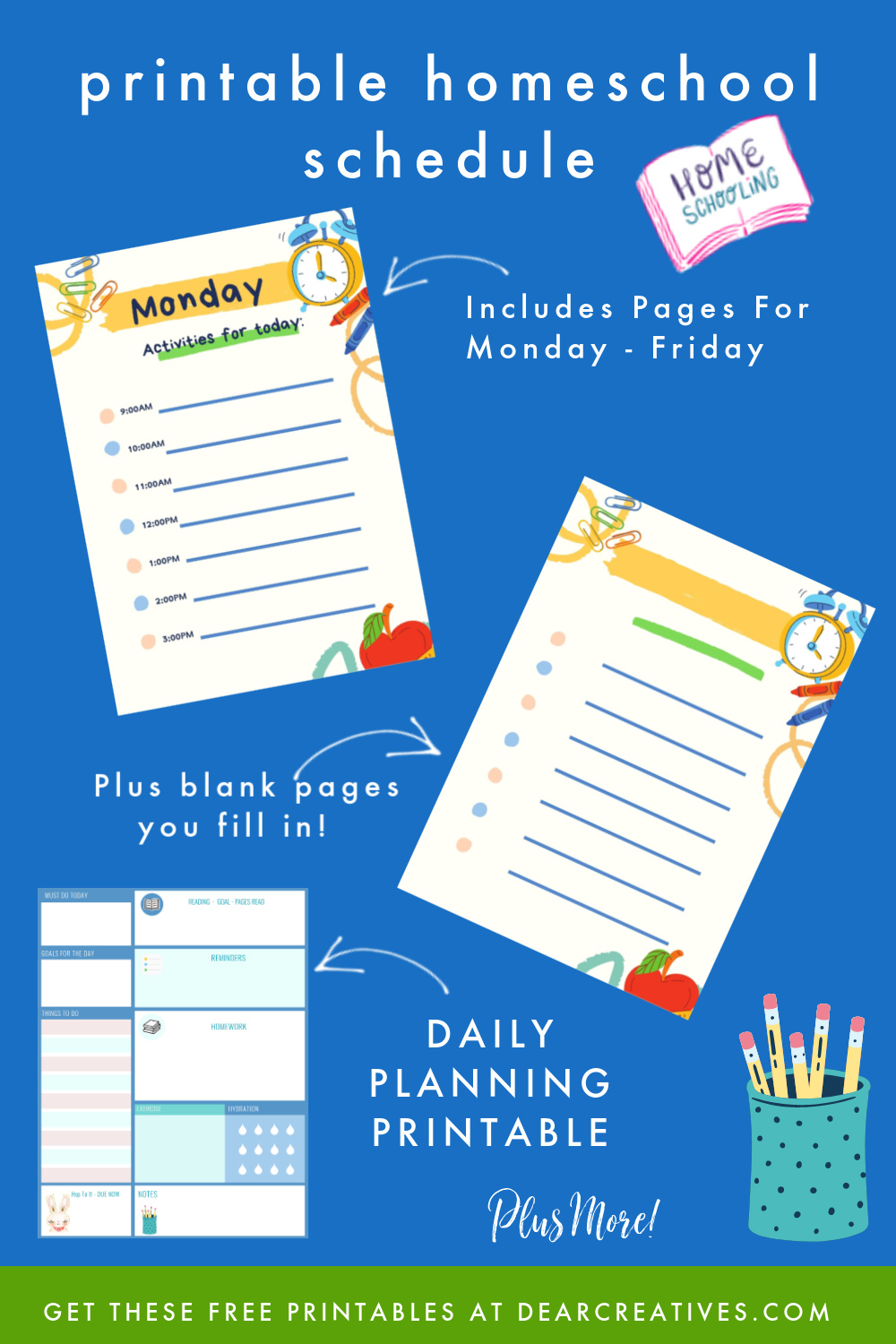 Free Daily Planner Printables For Back To School