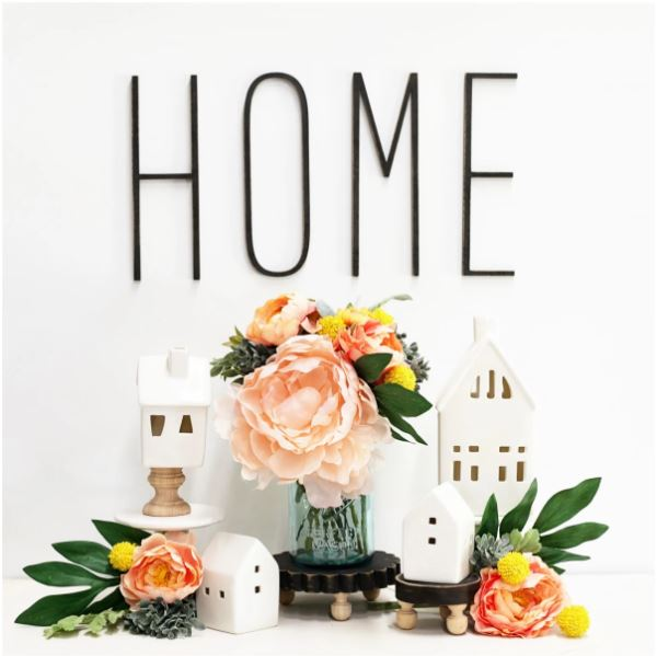 These tall skinny laser-cut wood letters are perfect for personalizing any space in your home. They pair perfectly with your shabby chic and farmhouse decor. Lightweight and easy to use with the mounting putty included with every letter purchased. Easy to hang.