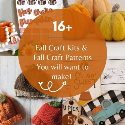 16+ Fall Craft Kits and Fall Craft Patterns - Fun and easy, fall crafts and fall craft patterns with instructions. Find out more at DearCreatives.com