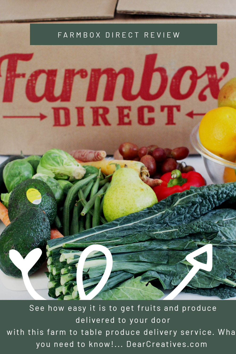 Farmbox Direct - Review and experience with using a produce delivery service. DearCreatives.com