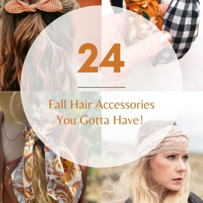 24 Fall Hair Accessories - Style your long and medium hair with these stylish hair accessories! Simple ideas for wearing your hair. DearCreatives.com