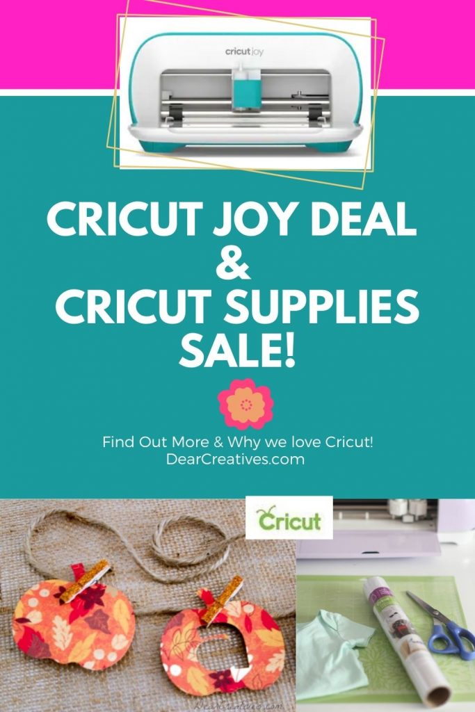 Cricut Deals - Cricut Joy Deal compact die cutting machine will have you crafting in minutes. Plus, Cricut supplies, totes...Find out more grab discount codes...- DearCreatives.com