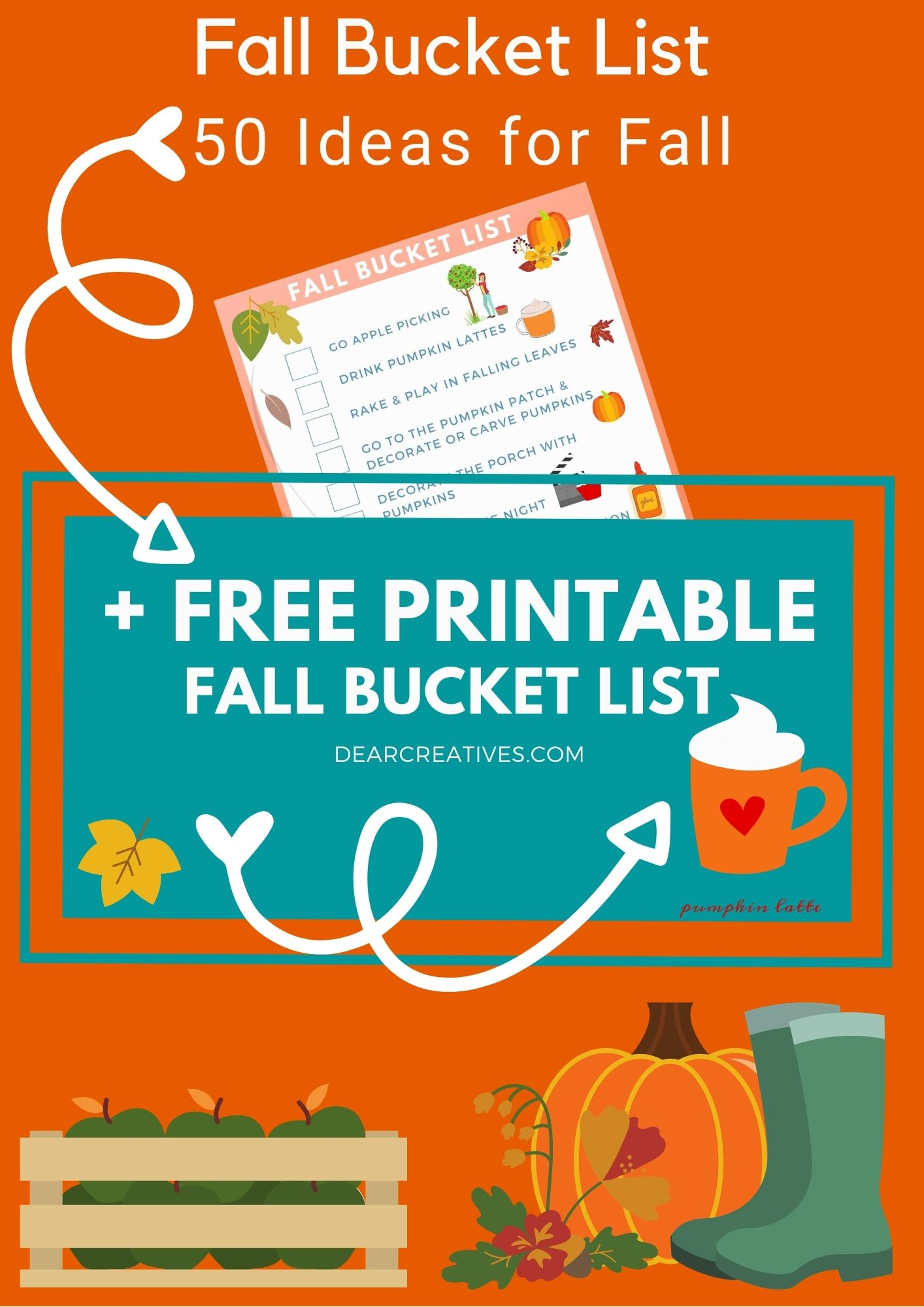 Fall Bucket List + Free Fall Bucket List Printable!
