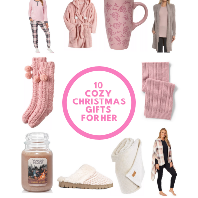10 Cozy Christmas gifts - Gifts for her, pajamas, cozy socks, slippers, throws, candles, warm robes...DearCreatives.com