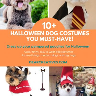 10+ Halloween dog costumes you will want to dress your dogs in. Cute, funny, unique, easy to wear...dog costumes for pampered pooches. DearCreatives.com