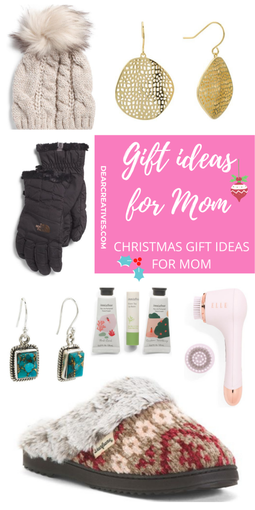 Are you looking for a Christmas gift for mom_ See these gift ideas for mom. A list of budget-friendly gifts for any mom. See all the gift ideas at DearCreatives.com