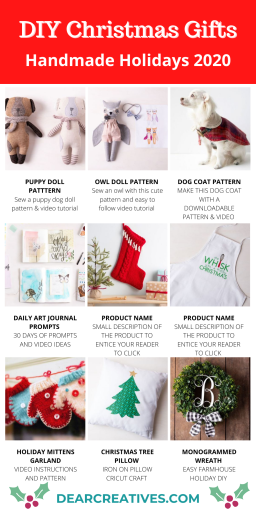 DIY Christmas Gifts - Crafts DIY projects to make and give for gifts for the holidays. DearCreatives.com