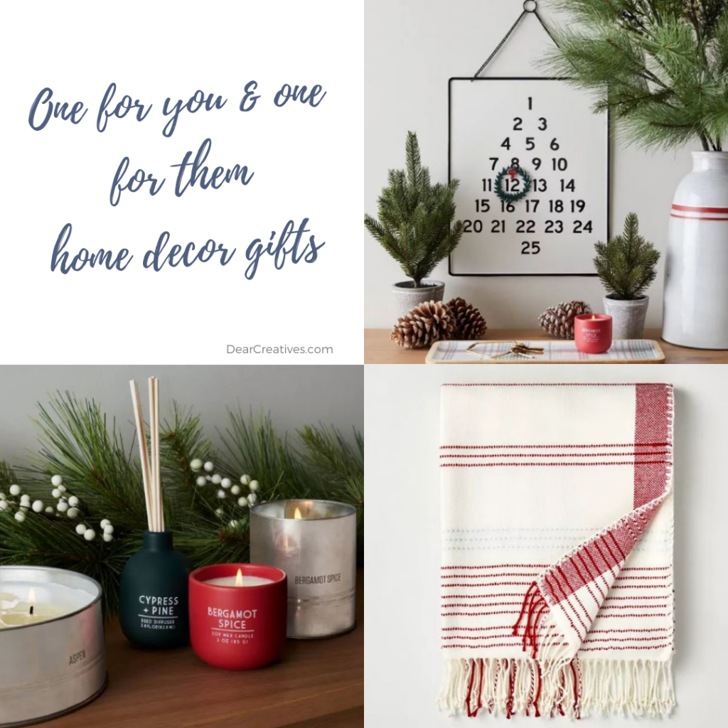 Home deor gifts - Gift ideas for the person who loves to decorate! See where to find these decor gift ideas - DearCreatives.com